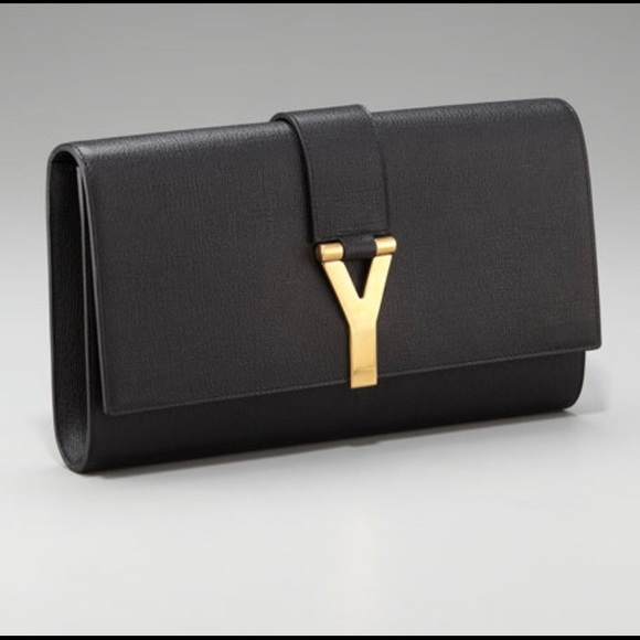 ad62ed6eb7 Yves Saint Laurent Black leather clutch new w tag